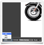 Drawing Export to SVG UI