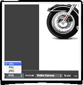 Logo Creator save as SVG