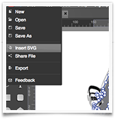 Logo Creator SVG insert and edit