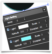 Drawing SVG Light Effects UI